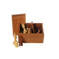 Chessman rosewood black-natur - king size 83 mm