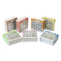Lotto sheets 1-75 - 10500 pieces