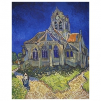 120 pieces Van Gogh - The Church at Auvers -  jigsaw puzzle