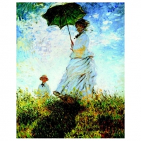 120 pieces Monet - Woman with a Parasol - jigsaw puzzle