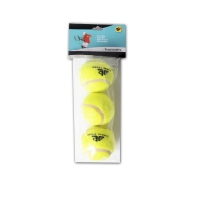 Three tennis balls in a polybag