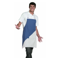 Bib Apron - royal blue-white - 60 cm