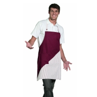 Bib Apron - bordeaux-red-white - 60 cm
