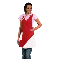 Bib Apron - red-white