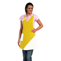 Bib Apron - yellow-white