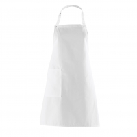 Bib Apron with side Pocket - white - 75 cm