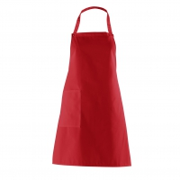 Bib Apron with side Pocket - red - 75 cm