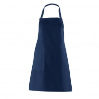 Bib Apron with side Pocket - navy blue - 75 cm