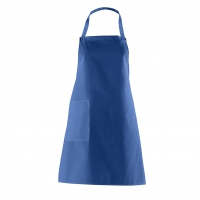 Bib Apron with side Pocket - royal blue - 75 cm