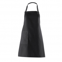 Bib Apron with side Pocket - black - 75 cm