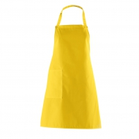 Bib Apron with side Pocket - yellow - 75 cm