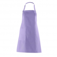 Bib Apron with side Pocket - lilac - purple - 75 cm