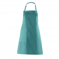 Bib Apron with side Pocket - petrol - turquoise-green - 75 cm
