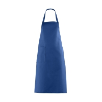 Bib Apron with large Pocket - royal blue - 100 cm