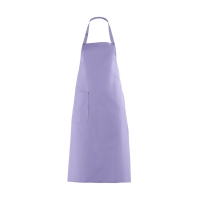 Bib Apron with large Pocket - lilac - purple - 100 cm