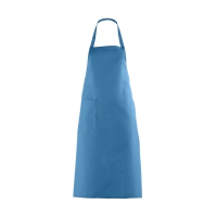 Bib Apron with large Pocket - turquoise - 100 cm