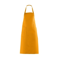 Bib Apron with large Pocket - mango - orange - 100 cm