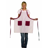 Bib Aprons - bordeaux-red-white - 75 cm