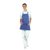 Pocket Apron - 3 Pockets - royal blue - 65 cm