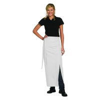 Bistro Apron Exclusive - with walking slit - white - 100x100 cm
