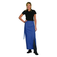 Bistro Apron Exclusive - with walking slit - royal blue - 100x100 cm