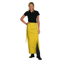 Bistro Apron Exclusive - with walking slit - yellow - 100x100 cm