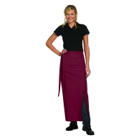 Bistro Apron Exclusive - with walking slit - bordeaux-red - 100x100 cm