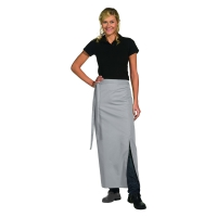 Bistro Apron Exclusive - with walking slit - silvergrey - 100x100 cm