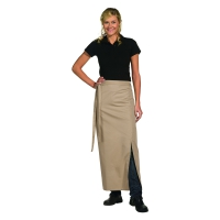 Bistro Apron Exclusive - with walking slit - sand - beige - 100x100 cm