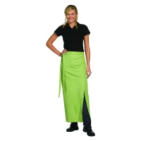 Bistro Apron Exclusive - with walking slit - apple green - 100x100 cm