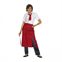 Bistro Apron Exclusive - red - 125x80 cm