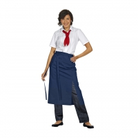 Half Apron Exclusive - navy blue - 145x80 cm
