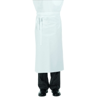 Half Apron - white - cotton twill - 80x100 cm