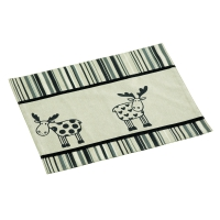 Placemat - striped - moose series - 45 x 35 cm