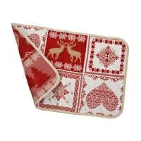 Placemat - heart-pine-deer - 30 x 45 cm