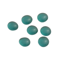 Game pieces made of glass - transparent - turquoise - ca. 15 - 20 mm
