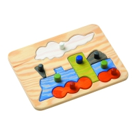 Gripping Puzzle - Locomotive - 8 parts - with large buttons - 31 x 23,5 cm