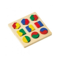 Geometric shape game - Wooden Puzzle - 16 x 16 cm