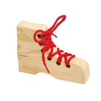 Stringing shoe - Learning Game - 15 x 10,5 x 3 cm