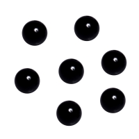 Game piece - spheres made of glass - black - ca. 16 mm