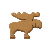 Magnetic pin - Elk - Solid wood - 6 cm