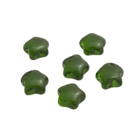 Game piece - Stars of glass - green - ca. 25 mm