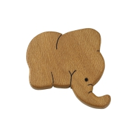Magnetic pin - Elephant - Solid wood - 6 cm
