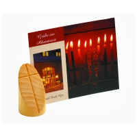 Card holder natural - Oval - Solid wood - oil - 7,5 cm