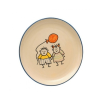 Plate - Ceramic series child - hand painted - dishwasher safe