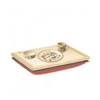 Balance tray - red - removable pillow - 44 x 34 cm