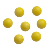 Game piece - spheres made of glass - yellow - ca. 16 mm