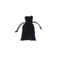 Stoffbeutel aus Samt - ca. 7 x 12 cm - schwarz