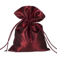 Stoffbeutel aus Satin - ca. 15 x 20 cm - bordeaux - rot