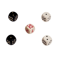 Backgammon dices - Replacement Set - made from wood